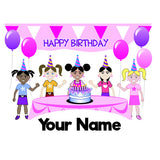 Personalised Birthday Girl Bottle - 300ml