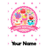 Personalised Birthday Badge Bottle - 300ml