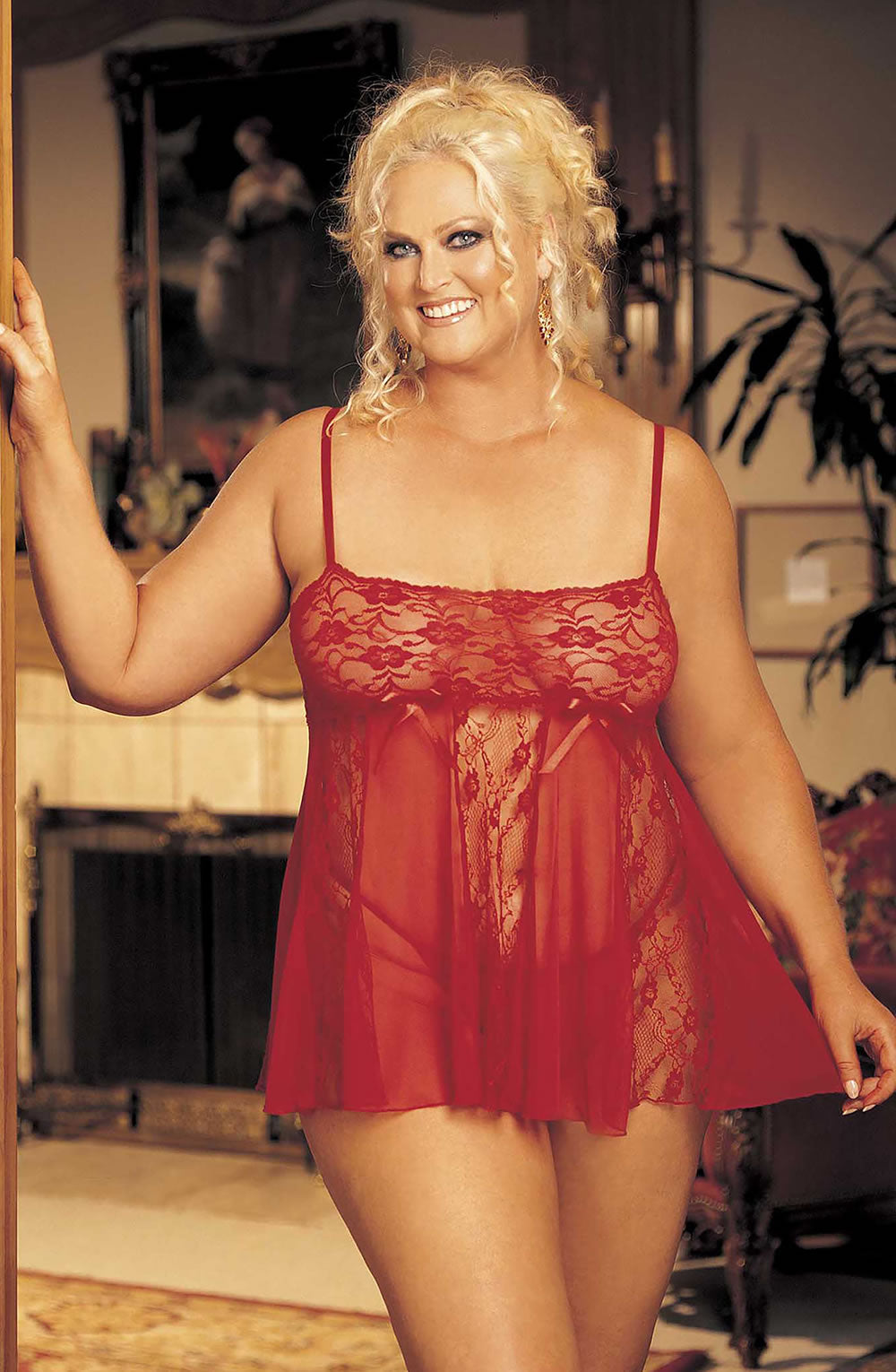 Shirley of Hollywood Lace Babydoll