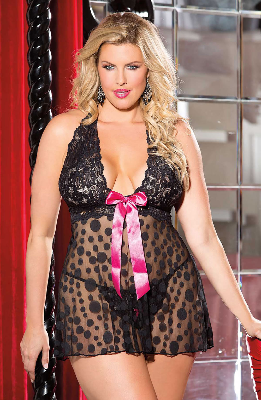 Shirley of Hollywood Ploka Dot Babydoll
