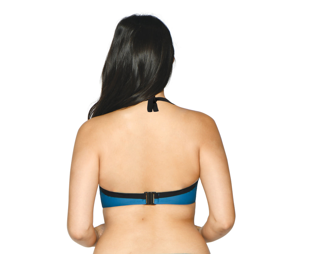 Curvy Kate Rock The Pool Petrol Blue Balcony Bikini Top
