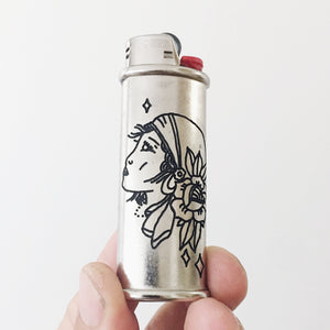 Gypsy Hand-Engraved Lighter Sleeve
