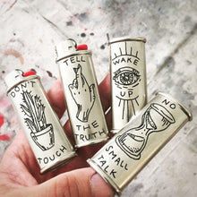 Load image into Gallery viewer, Brooke Powell x Hyena Mfg. Wake Up Engraved Lighter Sleeve