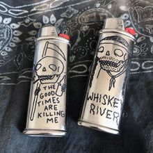 Load image into Gallery viewer, The Good Times are Killing Me Hand-Engraved Lighter Sleeve