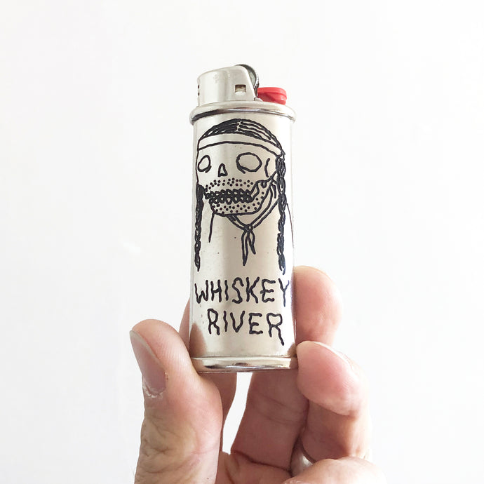 Whiskey River Hand-Engraved Lighter Sleeve