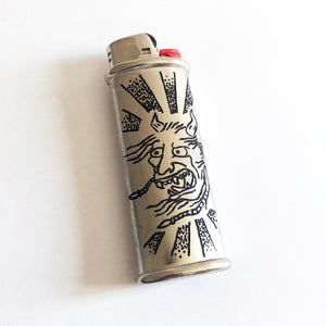 Oni One-of-a-Kind Hand-Engraved Lighter Sleeve