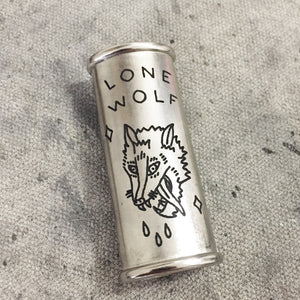 Lone Wolf Hand-Engraved Lighter Sleeve