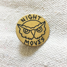 Load image into Gallery viewer, Night Moves Hand-Engraved Pin