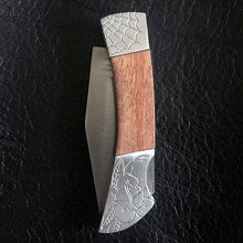 Load image into Gallery viewer, Web Rose Hand-Engraved Knife
