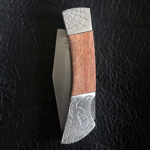 Web Rose Hand-Engraved Knife