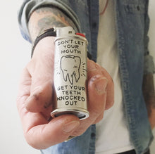 Load image into Gallery viewer, Words of Wisdom Hand-Engraved Lighter Sleeve