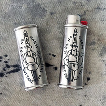 Load image into Gallery viewer, No Harm Hand-Engraved Lighter Sleeve