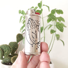 Load image into Gallery viewer, Praying Hands Hand-Engraved Lighter Sleeve