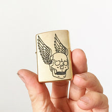 Load image into Gallery viewer, Flying Skull Hand-Engraved Zippo