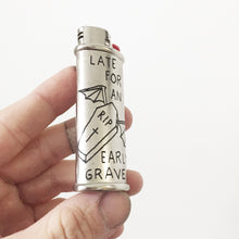 Load image into Gallery viewer, Early Grave Hand-Engraved Lighter Sleeve
