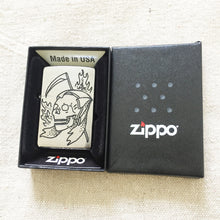Load image into Gallery viewer, Reaper Hand-Engraved Zippo (Chrome)