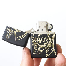 Load image into Gallery viewer, Reaper Hand-Engraved Zippo (Black)