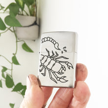 Load image into Gallery viewer, Scorpion Hand-Engraved Zippo (Chrome)