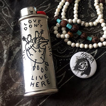 Load image into Gallery viewer, Love Don't Live Here Hand-Engraved Lighter Sleeve