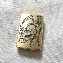 Load image into Gallery viewer, Reaper Hand-Engraved Zippo (Brass)