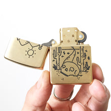 Load image into Gallery viewer, Desert Hand-Engraved Zippo (One of a Kind)