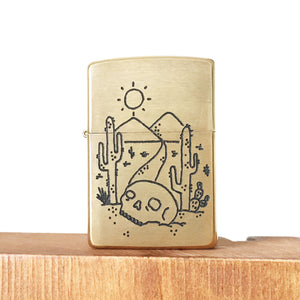 Desert Hand-Engraved Zippo (One of a Kind)