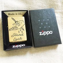 Load image into Gallery viewer, Hard Luck Hand-Engraved Zippo (One of a Kind)