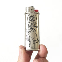 Load image into Gallery viewer, Holding Rose Hand-Engraved Lighter Sleeve