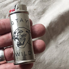 Load image into Gallery viewer, Stay Wild Hand-Engraved Lighter Sleeve