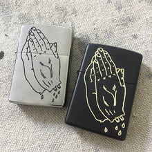 Load image into Gallery viewer, Praying Hands Hand-Engraved Zippo (Chrome)