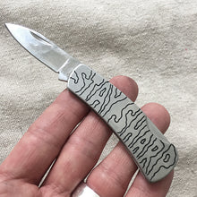 Load image into Gallery viewer, Stay Sharp Hand-Engraved Pocket Knife