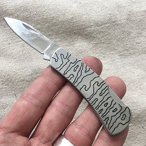 Stay Sharp Hand-Engraved Pocket Knife