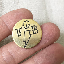 Load image into Gallery viewer, TCB Hand-Engraved Brass Lapel Pin