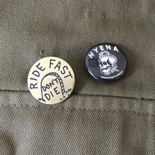 Load image into Gallery viewer, Ride Fast Don't Die Hand-Engraved Lapel Pin