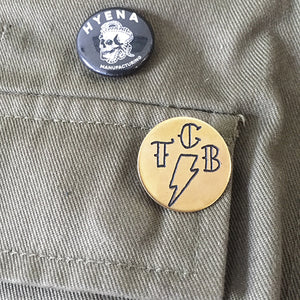 TCB Hand-Engraved Brass Lapel Pin