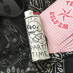 Party Time Hand-Engraved Lighter Sleeve