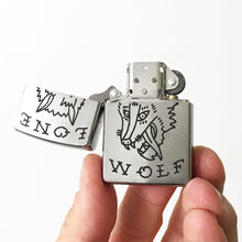 Load image into Gallery viewer, Lone Wolf Hand-Engraved Zippo (One of a Kind)