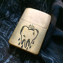 Load image into Gallery viewer, Tooth Hand-Engraved Zippo (One of a Kind)
