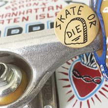 Load image into Gallery viewer, Skate or Die Hand-Engraved Pin