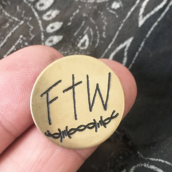 FTW Hand-Engraved Pin