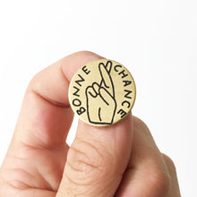 Load image into Gallery viewer, Bonne Chance Hand-Engraved Pin