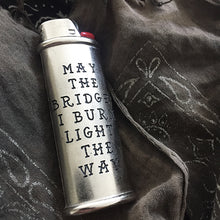 Load image into Gallery viewer, Burn Bridges Hand-Engraved Lighter Sleeve
