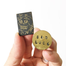 Load image into Gallery viewer, Black Skull Hand-Engraved Pin (One of a Kind)