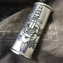 Load image into Gallery viewer, Dagger Rose Hand-Engraved Lighter Sleeve