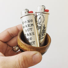 Load image into Gallery viewer, No Harm Writing Hand-Engraved Lighter Sleeve