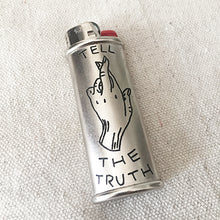 Load image into Gallery viewer, Brooke Powell x Hyena Mfg. Tell the Truth Engraved Lighter Sleeve