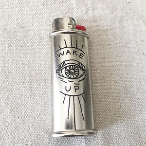 Brooke Powell x Hyena Mfg. Wake Up Engraved Lighter Sleeve