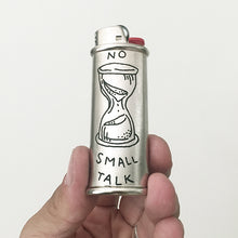 Load image into Gallery viewer, Brooke Powell x Hyena Mfg. No Small Talk Engraved Lighter Sleeve