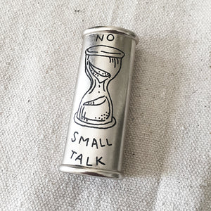 Brooke Powell x Hyena Mfg. No Small Talk Engraved Lighter Sleeve