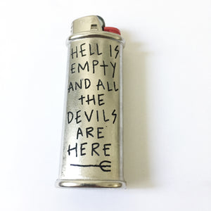 Hell is Empty Hand-Engraved Lighter Sleeve